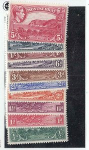 MONTSERRAT # 92-101 VF-MNH KGV1 ISSUES TO 5sh CAT VALUE $37+