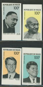 Niger 1968 Imperf Proponents of Non-Violence set Sc# C94-97 NH