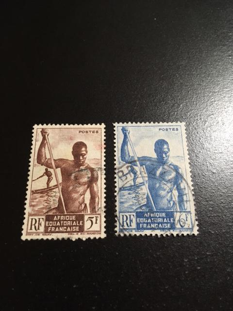 French Equatorial Africa sc 179-180 uhr
