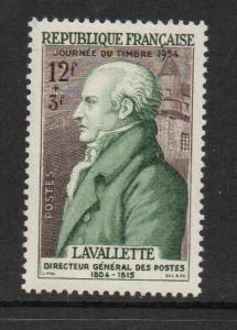 France Sc B284 1954 Stamp Day La Valettestamp  NH