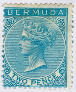 BERMUDA SG3, 2d dull blue, UNUSED. Cat £475.