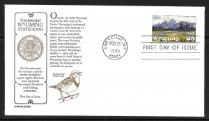 United States 2444 Wyoming Statehood Aristrocat First Day Cover FDC (z2)