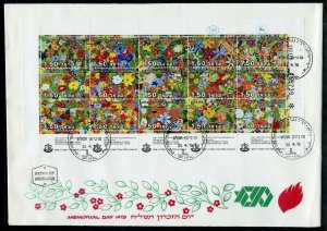 ISRAEL 1979  MEMORIAL MINIATURE SHEET ON FIRST DAY COVER