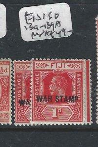 FIJI   ISLANDS   (P2306B)  KGV  WAR TAX 1D  SG 139-139A   MNH