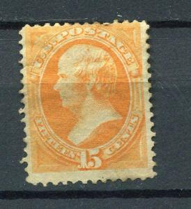 USA 1873 Sc 163 Mint Partial Gum. Repeared  CV $1050++ lot 624