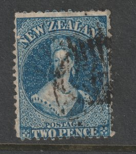 New Zealand a used 2d QV full face from 1864