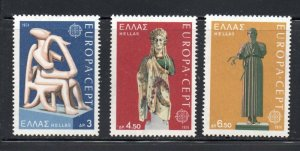 Greece Sc  1109-11 1974  Europa stamp set mint  NH