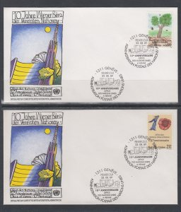 UN Geneva 178-179 UN Postal Administration U/A Set of Two FDC