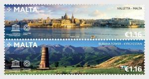 H01 Malta 2018 Malta - Kyrgyzstan Joint Stamp Issue MNH Postfrisch