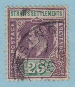 STRAITS SETTLEMENTS  117 USED   NO FAULTS VERY FINE!