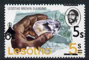 Lesotho 1980 5s on 6c on 5c brown Diamond unmounted mint ...