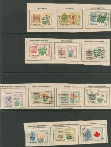 Canada SG 543 - 55  Fine Used set of 13 on pieces