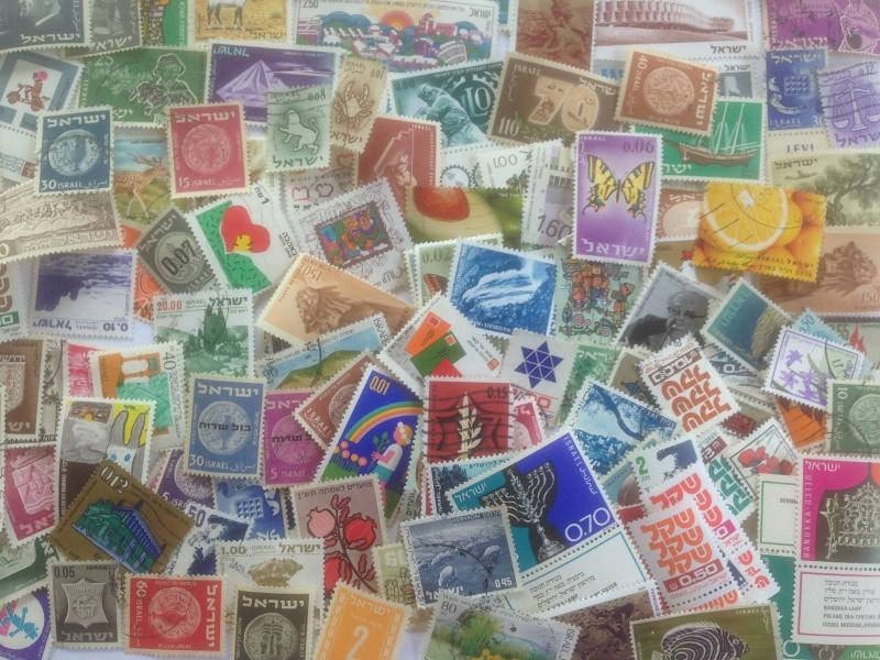 500 Different Israel Stamp Collection