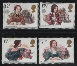 GREAT BRITAIN, 915-918, (4) SET,  MNH, 1980 Victorian novelists & scenes