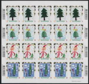 Slovenia 905-20 (MI928-43) Sheets MNH Children's Winter Paintings