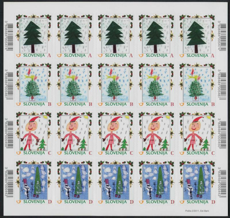 Slovenia 905-20 (MI928-43) Sheets MNH Children's Winter Paintings