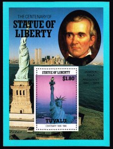 UK STAMP TUVALU 1986 CENTENARY STATU OF LIBERTY MNH S/S STAMP COLLECTION LOT #3