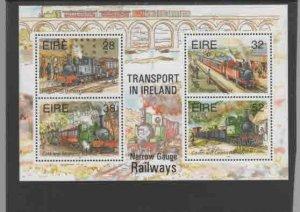IRELAND #959a  1995 NARROW GAUGE RAILWAYS    MINT  VF NH  O.G  S/S  a