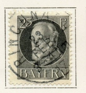Bayern Bavaria 1914-18 Early Issue Fine Used 25pf. NW-120703