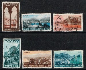 Italy # 641 - 646  Used