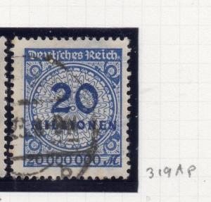 Germany . 1923 October Inflation Period Used 20Million. 244696