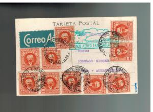 1932 Cochabamba Bolivia LZ 127 Graf Zeppelin Postcard Cover to Sieger Germany