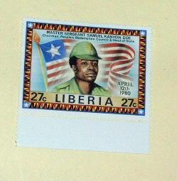 Liberia - 894, MNH. Sgt, Doe, Flag. SCV - $0.90