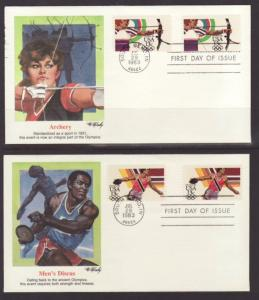 US 2048-2051 Olympics 1983 Fleetwood S/4 U/A FDC