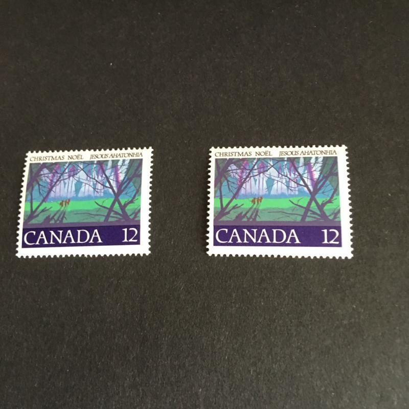 Canada USC #742T1 Mint Fresh & F-NH 1979 12c Christmas Untagged Error Fresh&F-NH