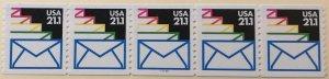 USA 2150 #111121 MNH PNC strip of 5 SCV $3.25