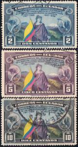 Ecuador #366-372 Used Set