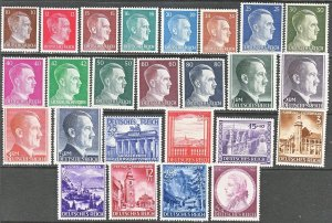 Stamp Germany Year 1941 Mi 762-810 Set WWII 3rd Reich Hitler Mozart MNG