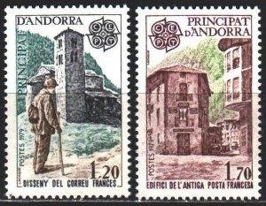 Andorra. 1979. 297-98. Architecture, europe-sept. MNH.