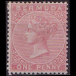 BERMUDA 1865 - Scott# 1 Queen Victoria 1p LH