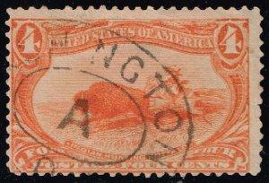 US #287 Indian Hunting Buffalo; Used (1Stars)