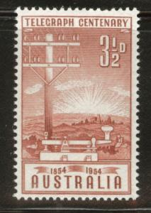 AUSTRALIA Scott 270 MNH** 1954 telegraph pole stamp