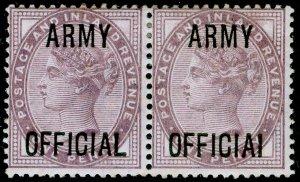 SGO43a, 1d lilac, DIE II, M MINT. Cat £248. PAIR. OFFICIAL.