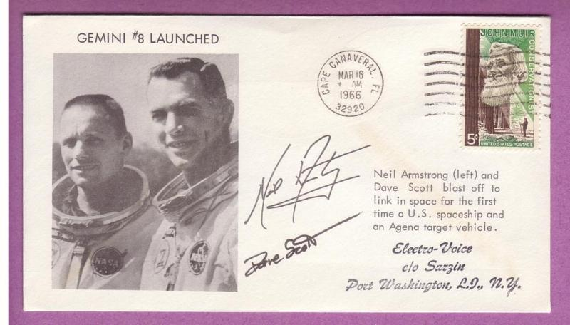 Space Event - Gemini GT-8 - Signed by Armstrong & Scott