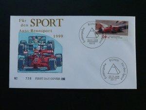 car race auto racing Formula 1 Fur den Sport FDC 1999 Germany 84181