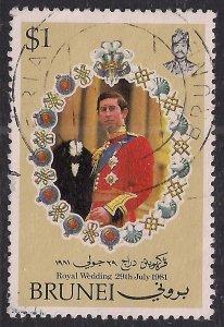 Brunei 1981 QE2 $1 Royal Wedding SG 305 ( F682 )