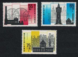 Netherlands Industrial Buildings 3v 1987 MNH SG#1503a-1505 CV£5.10