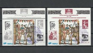 Hungary, 1992 Local issue. Scout Perf & Imperf s/sheets. First day Cancel. ^