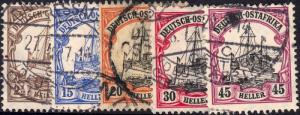 German East Africa 1905 Yacht Part Set Used - CV £123