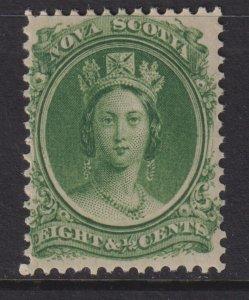 1860-63 Canada Nova Scotia Queen Victoria QV 8½¢ MVLH Sc# 11 CV $15.00 Stk #9
