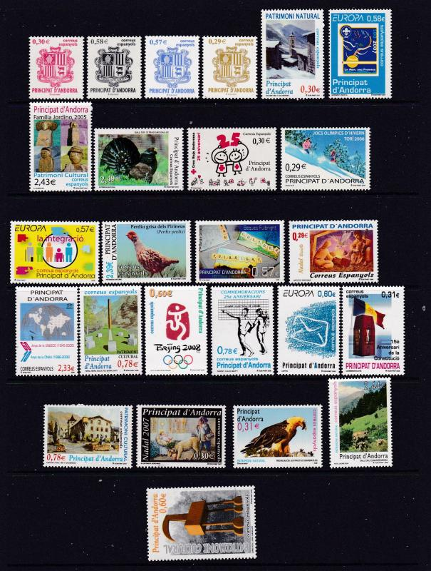 Andorra small lot of modern MNH