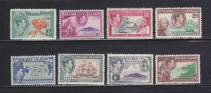 Pitcairn Islands 1-8 Set MHR King George VI, Various (B)