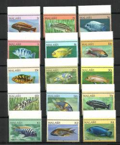 MALAWI STAMPS. 1984 SET COMPLETE FISH & MARINE LIFE. MNH