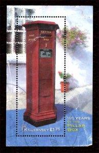Guernsey 2002 Letter/Pillar Box S/S £1.75 Scott.768 Used