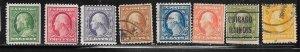 US# 331-338  Franklin & Washington (U) CV. $18.05
