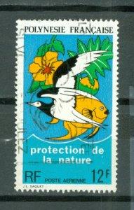 FRENCH POLYNESIA BIRD-FISH  #C105...USED...$5.25